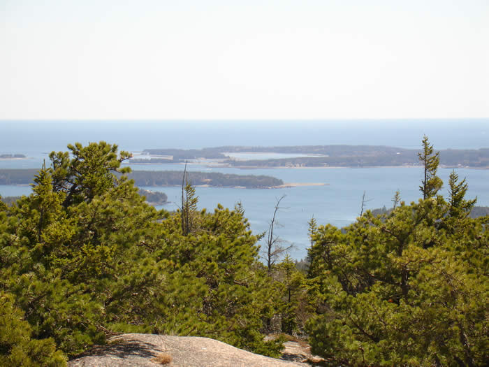 View of the waters off Mount Desert Island, Maine - Acadia National Park