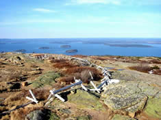 Highest peak along the northeastern seaboard, Cadillac Mountain, Acadia National Park near Bar Harbor, Maine
