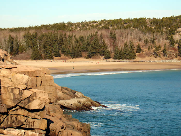 Sand Beach, Maine - along the Park Loop Road, Acadia National Park