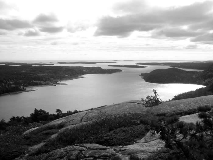 Somes Sound, the only natural fjord on the northeast coast