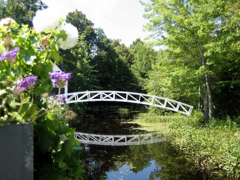 Picturesque bridge in Somesville, Maine, the first village on Mt. Desert Island