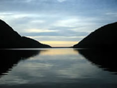 Paddle the calm waters of Long Pond, Southwest harbor Inn lodging, Kingsleigh Inn