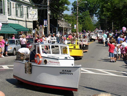 Southwest Harbor's Quietside Festival in July here on Main Street at Clark Point Rd.